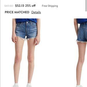 Women's Levi High Waist Shorts - Size 29